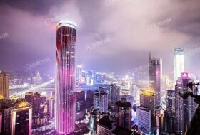 解放碑正中心看江大平层俯瞰整个重庆主城重庆地标性建筑