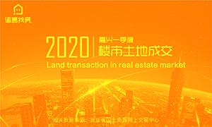 2020年一季度嘉兴楼市土地成交
