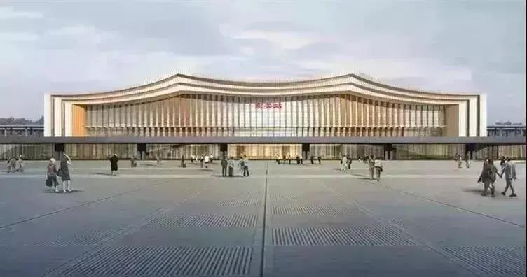 杭绍台高铁上虞南站最新进展,站前广场预计2022年3月建成!