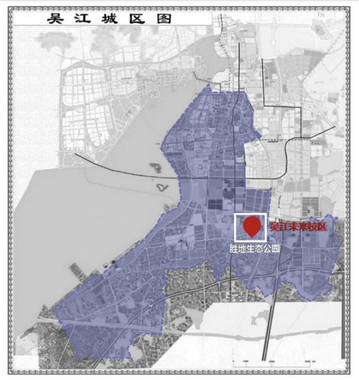 ▲苏州大学未来校区选址