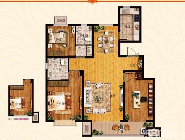 鲁商金悦城三室两厅一卫毛坯房带车位全款更名走一手二套房子