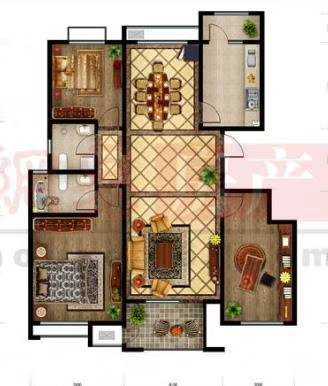 东城清风小区三楼85平方,带地下室精装88万