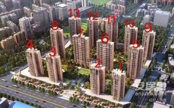 天悦龙庭3+1户型中高层仅售95.5万元观景房
