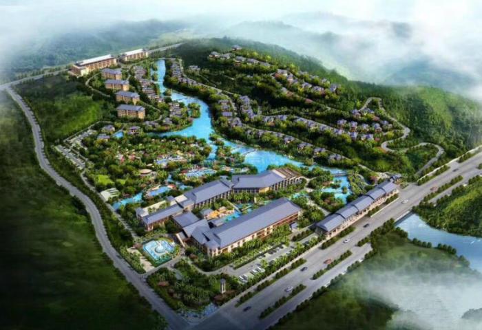 海南西部儋州市 古老的自然温泉水 户户温泉入户自然原生态社区