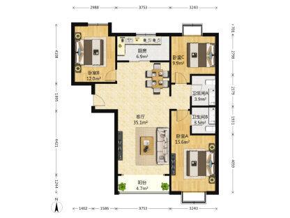 业主急售 东方夏威夷精装3居室310万 拎包入住 看房方便