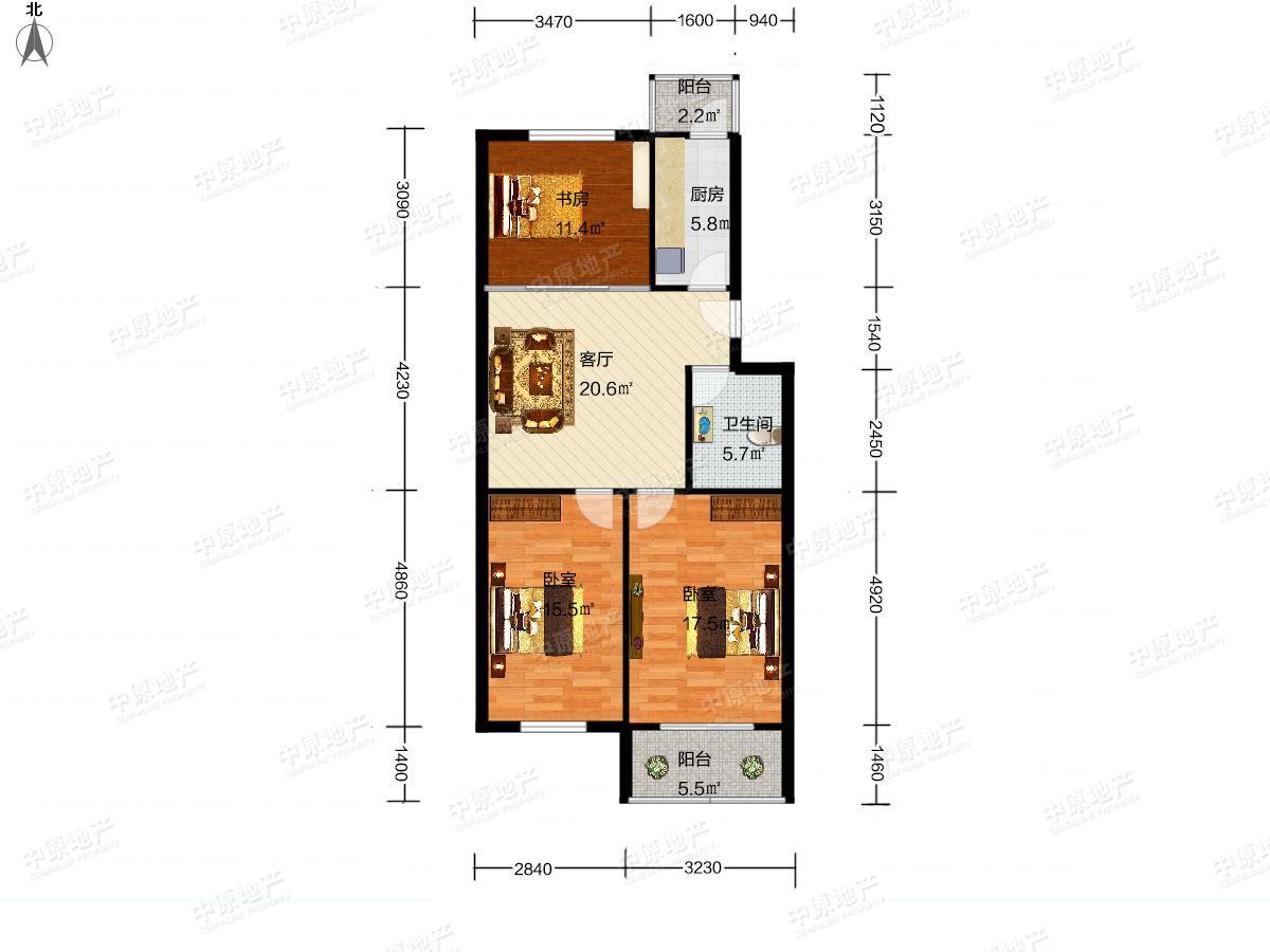 广泰园3室1厅1卫双卧室阳面不临街,居住舒适