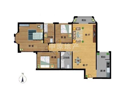 阳春光华家园3室2厅2卫