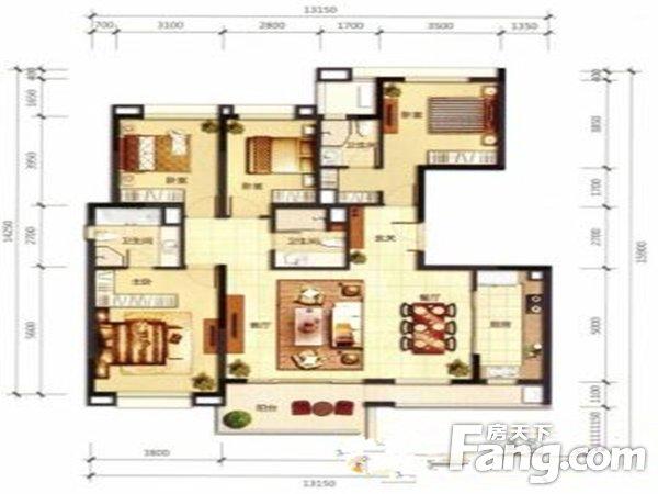 出售万科翡丽山4房2厅精装修朝南售价380万二手房