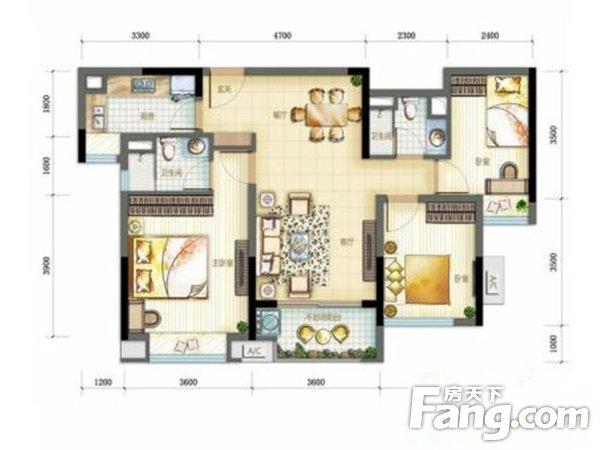 出售万科翡丽山3房2厅精装修朝南售价200.0万二手房