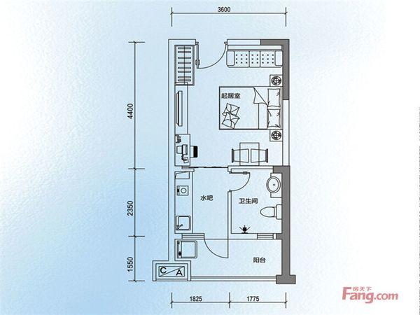 方中兰亭轩精装1房舒适整洁家私电齐全看房方便紧-邻地-铁二手房