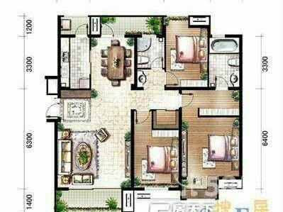 金地花园精装现房南北通透三室两厅证件齐全二手房