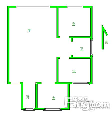 奥体旁金地国际花园三室一厅清水南北通透证件齐全二手房