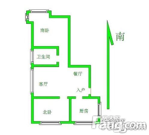 金地国际花园2室2厅1卫84.00㎡二手房