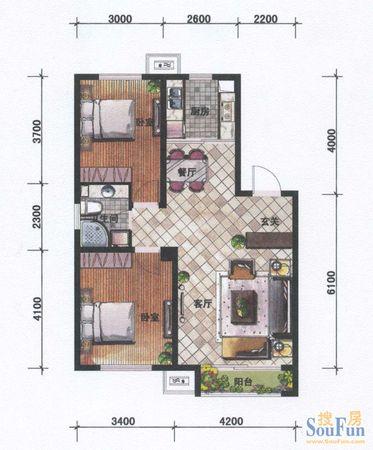 坤泰新界2室2厅1卫低售二手房