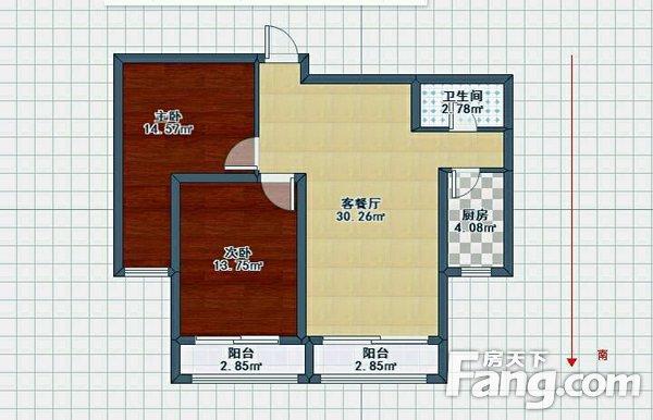 金水花城2室1厅1卫101.00㎡二手房