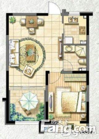 金地国际花园70.00万2室1厅62.50㎡二手房
