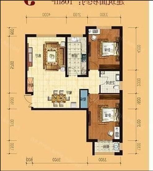 两室两厅简豪装二手房