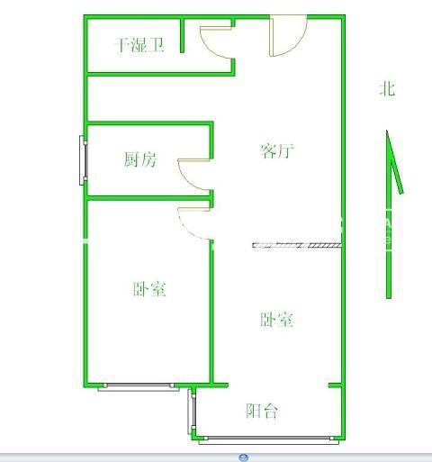 桥西西部枫景玉龙一室2厅总价低带地下室,二手房