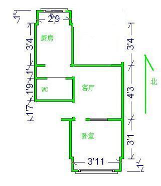 北苑小区2室1厅1卫二手房