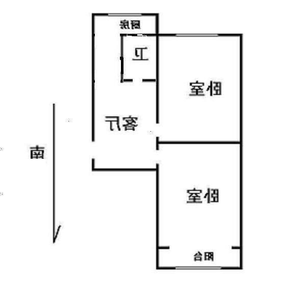 天苑小区J区 2室1厅1卫  二手房