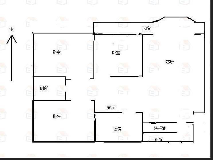 万信花园D区 3室2厅1卫  二手房