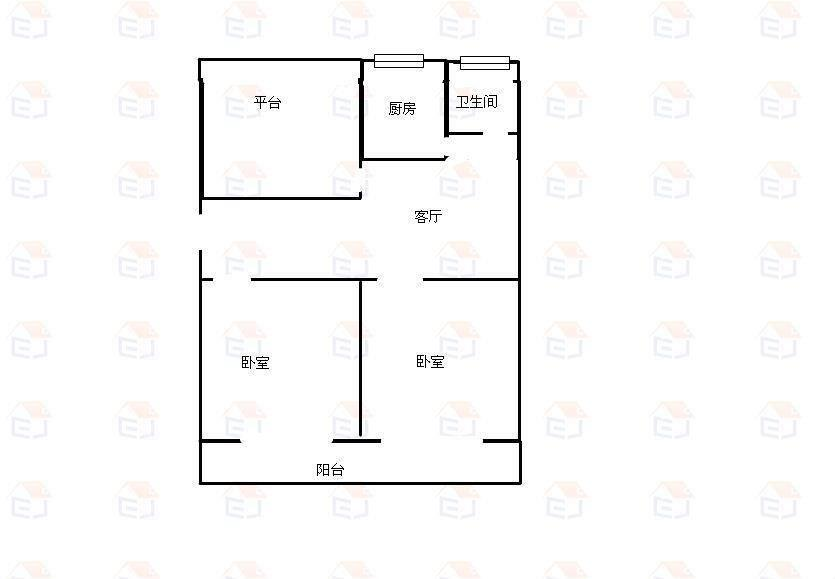 四中路68号院2室2厅1卫二手房