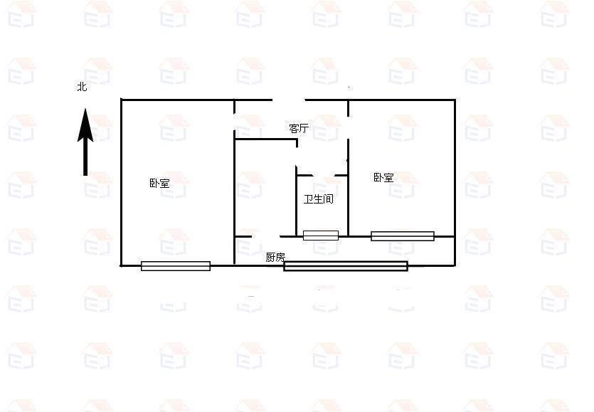 新苑小区(新华小区) 2室1厅1卫  二手房