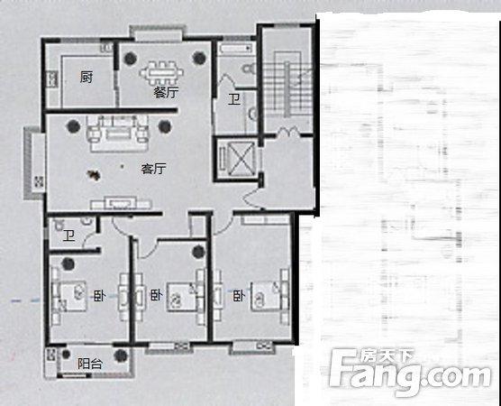 建华北大街一水源大三室住着舒服单价一万四,二手房