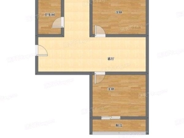 方兴小区,偏门两室,5/6层,满二,随时看房,二手房