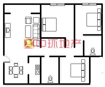 金地格林莱茵区南北通透大三房业主诚心出售二手房