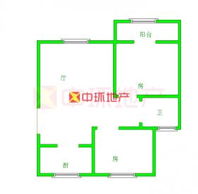景虹花园高层两房两证满2年看房方便中介费1.5%,二手房