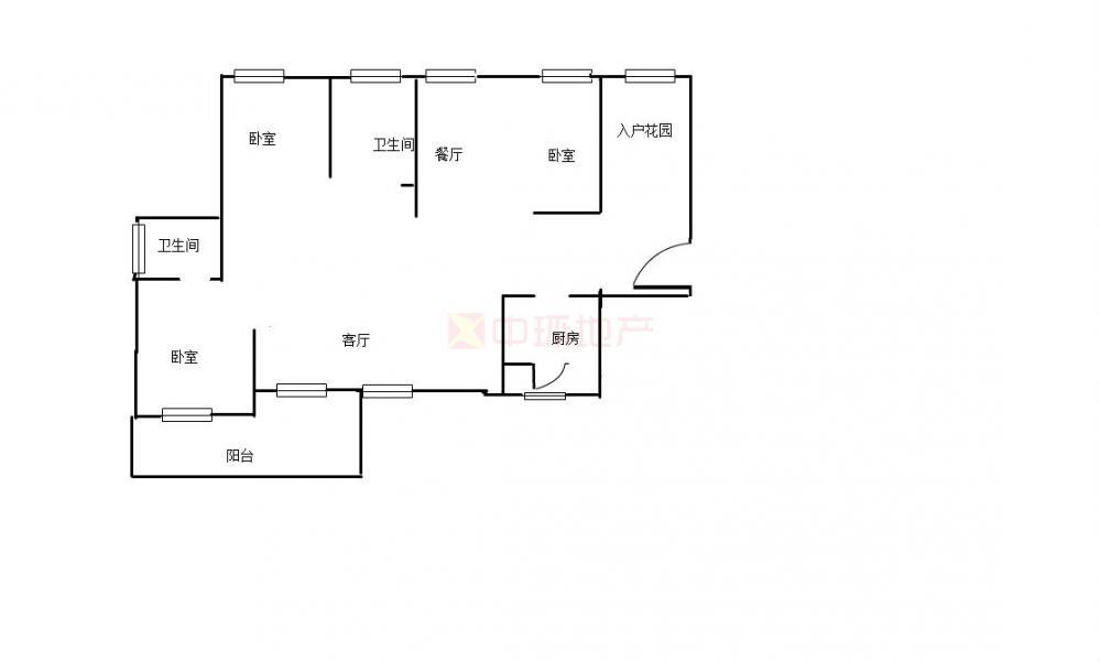 洪山区泰然南湖玫瑰湾蓝玫苑4室2厅,二手房