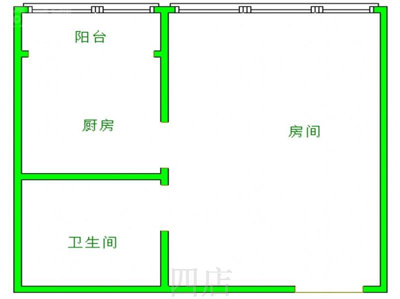 江汉路步行街中段紫晶城中层精装通透采光优,二手房