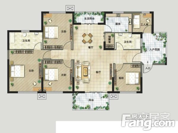 洪山区保利华都4室2厅,二手房