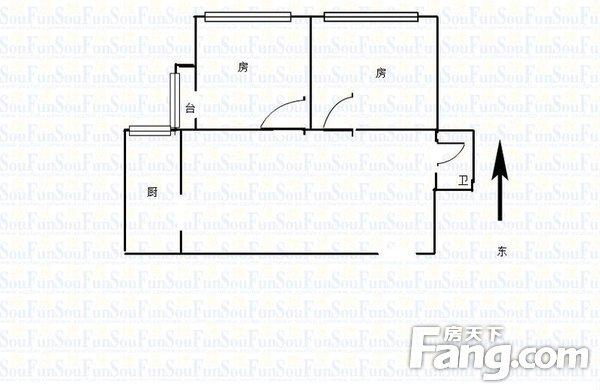 花西公寓精装两室两厅6/8层采光好有钥匙看房方便,二手房