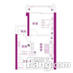紫晶城1室1厅超低价格带燃气,二手房