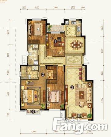 江岸区仁义社区4室1厅,二手房
