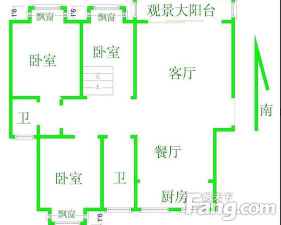汉阳大道花钱树下顶楼中装方正通透业主诚售,二手房