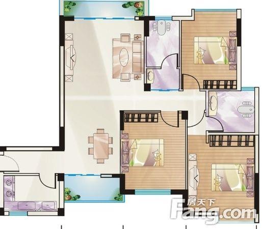 花西公寓步梯5楼精装3房产权老证,二手房