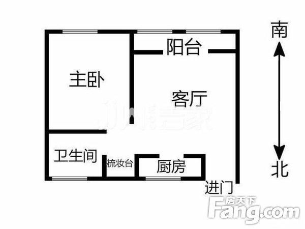泰然南湖玫瑰湾红玫苑标准一居室室厅分明朝南采光,二手房