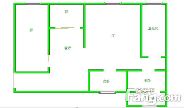 凯旋名邸,南北通两房,中高间层,居家装修,二手房