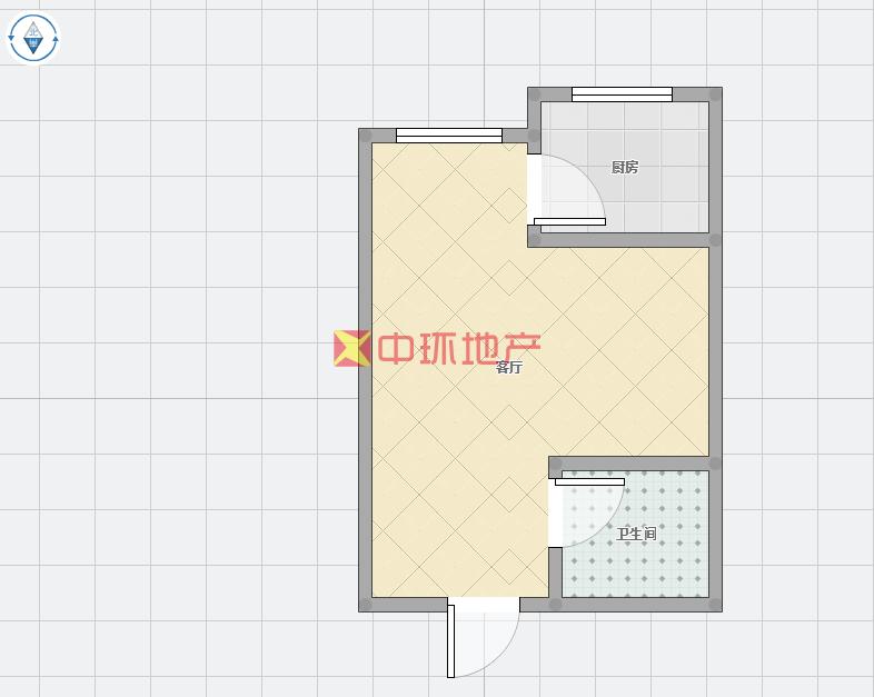 富田精装朝南一室干净舒适交通便利价位合理诚心出售二手房