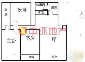 北环索凌路、大河春天、希缺精装大三房、多层4楼、均价1万5二手房