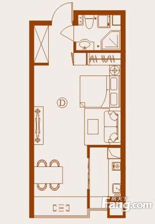 世豪小公馆精装双气一室一厅朝西房主急售二手房