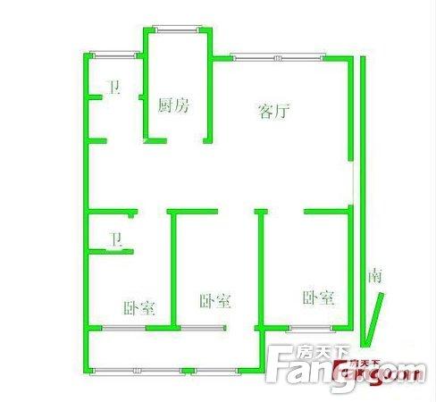 金水区中方园路北环路中方园东区117平3房2厅多层5楼二手房