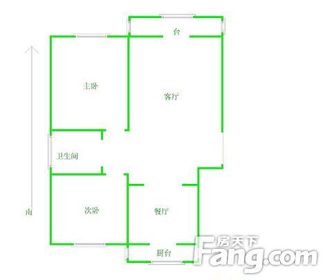5号线地铁口港湾小学旁双气标准小2室婚房装修二手房
