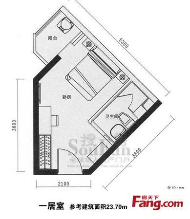 文博楼数码公寓22平标间双气朝南43万二手房
