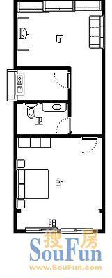 南阳路、清华园、35平精装一室一厅、首付10万、直接入住二手房